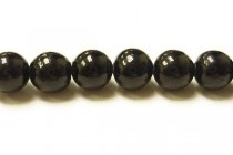 Black Coral Round Beads