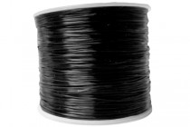 Elastic Flat Cord, Strong & Stretchy, 1.0mm, 320ft, Black
