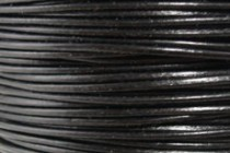 Greek Round Leather Cord - Black