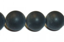Black Onyx (Dyed ) A Grade Matte/Frosted Round Gemstone Beads