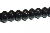 Black Onyx (Dyed) Rondelle Gemstone Beads