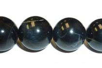 Blue Tigers Eye/Hawks Eye (Natural) Smooth Round Gemstone Beads