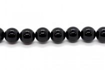 Black Tourmaline (Natural) Smooth Round Gemstone Beads