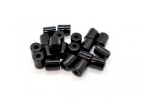 Black Onyx (Dyed) Tube Gemstone Beads - Large Hole Beads