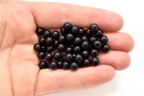 Black Onyx (Dyed) Round Gemstone Beads - Undrilled