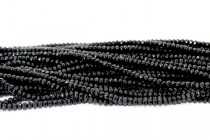 Black Onyx (Dyed) Faceted Rondelle Gemstone Beads