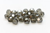 Black Diamond Satin Swarovski Crystal Round Beads 5000 - Factory Pack