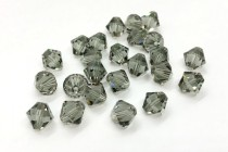 Black Diamond Swarovski Crystal Bicone Beads 5301/5328 - Factory Pack Quantity