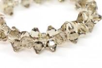 Greige Swarovski Crystal Top Drilled Bicone Pendants 6301