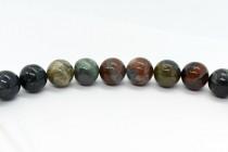 Bloodstone (Natural) Smooth Round Gemstone Beads