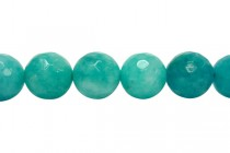 Agate (Dyed ) Faceted Disco Ball Cut Round Gemstone Beads - Teal / Blue green