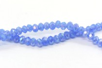 Blue Opal AB Chinese Crystal Rondelle Glass Beads