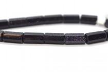 Blue Goldstone (Man Made) Six Sided Tube Gemstone Beads