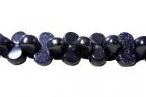 Blue Goldstone (Man Made) Barbell Gemstone Beads