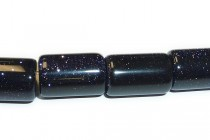 Blue Goldstone (Man Made) Big Hole Tube Beads