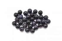 Blue Goldstone (Man Made) Half Drilled Round Gemstone Beads