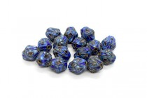 Blue Cloisonne Irregular Oval Beads with Abstract Design CL-200