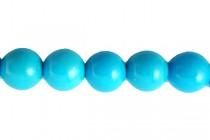 Howlite Turquoise (Dyed/Treated) Smooth Round Gemstone Beads