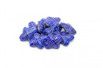 Enamel Cobalt Diamond Beads-Rounded