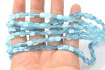 Blue Sky Fiber Optic (Cats Eye) Pillow Beads