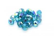 Blue Zircon AB2x Swarovski Crystal Round Beads 5000