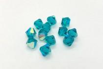 Blue Zircon AB 5301/5328 Swarovski Crystal Bicone Bead