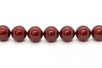 Crystal Bordeaux - Swarovski Round Pearls 5810/5811