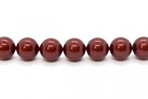 Crystal Bordeaux - Swarovski Round Pearls 5810 - Factory Pack Quantity