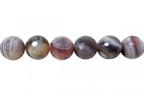 Botswana Agate ( Natural ) A Grade Round Faceted Disco Ball Gemstone Beads