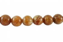 Brandy Opal (Natural) Smooth Round Gemstone Beads