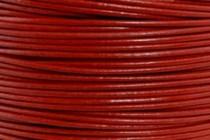 Greek Round Leather Cord - Brick Red