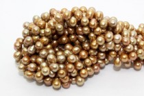 Bronze (Dyed) Top Drilled Teardrop Freshwater Pearl Beads