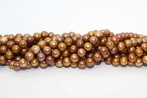 Copper (Dyed) Potato Freshwater Pearl Beads