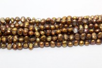 Irregular Potato Freshwater Pearls - Light Bronze Peacock - AB Grade