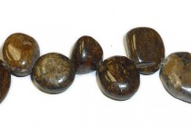 Bronzite (Natural) Top Drilled Nugget Gemstone Beads - Sale