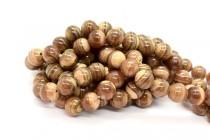Brown Rhodochrosite (Natural) Smooth Round Gemstone Beads