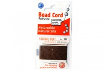 Griffin Natural Silk Bead Cord - Brown