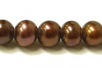 Big Hole Freshwater Pearls  Potato - Bronze Peacock