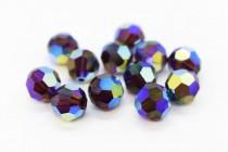 Burgundy AB2x Swarovski Crystal Round Beads 5000 - Factory Pack Quantity
