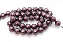 Crystal Burgundy - Swarovski Round Pearls 5810 - Factory Pack Quantity