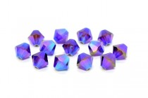 Burgundy AB2x Swarovski Crystal Bicone Beads 5301 - Special Variation