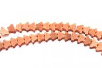 Burnt Orange Fiber Optic (Cats Eye) Glass Beads - Butterfly