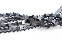 Dark Grey Fiber Optic (Cats Eye) Glass Beads - Butterfly
