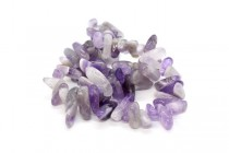 Amethyst Cape / Dogtooth, (Natural) A Grade Top-Drilled Chip Gemstone Beads