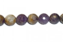 Cape / Dogtooth Amethyst Multi-Faceted Disco Cut Round Beads