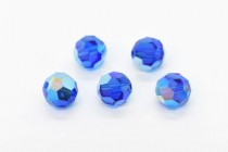 Capri Blue AB 2X 5000 Swarovski Elements Crystal Round Bead