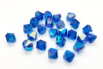 Capri Blue AB Swarovski Crystal Bicone Beads 5301 - Factory Pack
