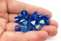 Capri Blue AB 5301 Swarovski Crystal Bicone Beads - Factory Pack Quantity