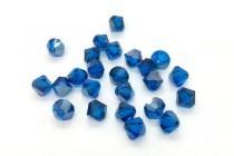 Capri Blue Satin Swarovski Crystal Bicone Beads 5301 - Factory Pack Quantity