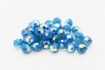 Caribbean Blue Opal AB2x Swarovski Crystal Round Beads 5000 - Factory Pack Quantity